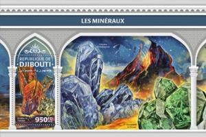 Djibouti - 2018 Minerals - Stamp Souvenir Sheet - DJB18310b