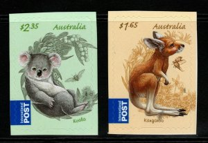 AUSTRALIA SG3613/4 2011 BUSH BABIES (EX BOOKLET) SELF ADHESIVES MNH