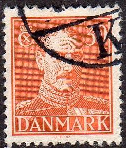 Denmark 284 - Used - 30o King Christian X (1943) (cv $0.35)