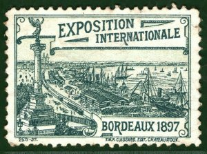 BORDEAUX INTERNATIONAL EXHIBITION STAMP/LABEL France 1897 Mint MNG G2WHITE83