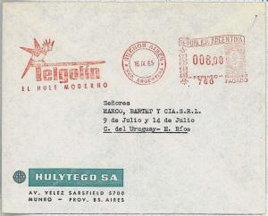 BIRDS - POSTAL HISTORY - ARGENTINA: AUTOMATIC red POSTMARK on COVER 1965