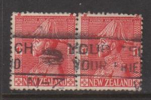 New Zealand Sc#184 Used Pair