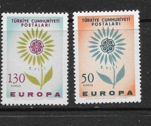 TURKEY - EUROPA 1964 - SCOTT 1628 TO 1629 - MNH