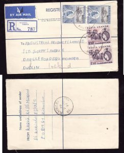 Kenya registered letter to Ireland - Kiambu , Kenya - 6 Ju 1957- registration la