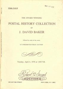 The Award Winning Postal History Collection of J. David B...