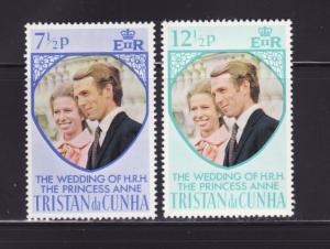 Tristan Da Cunha 189-190 Set MNH Princess Ann's Wedding