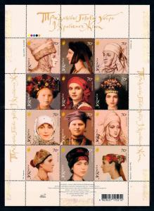 [94530] Ukraine 2006 Traditional Headdresses Local Costumes Sheet MNH