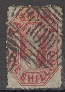 COLLECTION LOT OF #1756 AUSTRALIA STATE TASMANIA  #34 1864 CV=$75