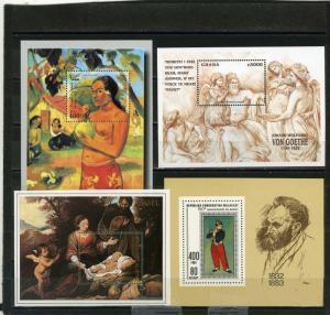 PAINTINGS SMALL COLLECTION SET OF 4 S/S MNH