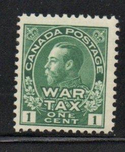 Canada Sc MR1 1915 1c green G V Admiral War Tax  stamp mint NH