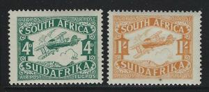 South Africa 1929 Second Airmail set Sc# C5-6 NH