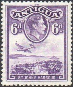 Antigua 19386d violet (St John's Harbour) MH