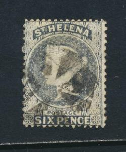 ST HELENA 1876, 6d PERF 14x12½, VF USED(SIGNED) SG#25 CAT£50 $65 (SEE BELOW)