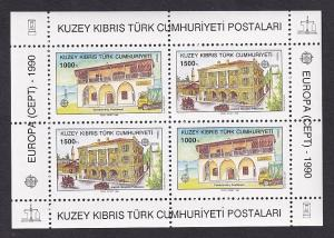 Cyprus  Turkish   #269a-270a  MNH    1990  sheet Europa  post offices