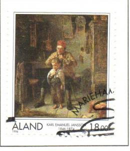 Aland Sc  129 1996 Jansson Painting stamp used