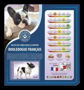 TOGO - 2019 - French Bulldog - Perf Souv Sheet - MNH