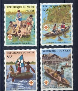 1982 Niger Boy Scouts 75th anniversary canoes