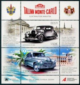 HERRICKSTAMP NEW ISSUES ESTONIA Sc.# 877 Tallinn Monte Carlo Electric Marathon