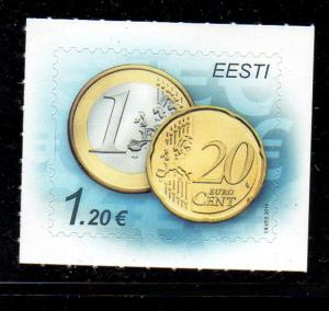 Estonia Sc 770 2014  €1.2 Coins stamp mint NH