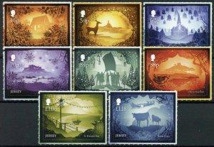 Jersey Christmas Stamps 2020 MNH Festive Scenes Landscapes Animals 8v S/A Set