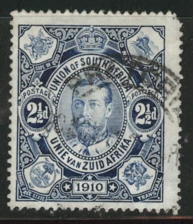 South Africa Scott 1 used 1910 first stamp