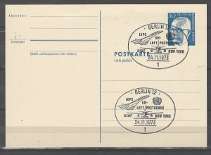 COLLECTION LOT # 5078 GERMANY STAMPED POST CARD 1973
