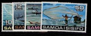 SAMOA QEII SG465-468, 1976 fishing set, NH MINT.