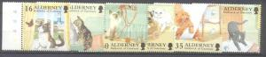 Alderney 92-97 MNH Cats SCV10.75