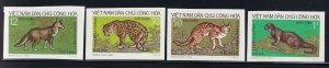 North Viet Nam - 1973 - Sc 687 - 690 - Wild Animals - Imperf - MNH