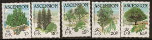 ASCENSION SG371/5 1985 TREES  MNH