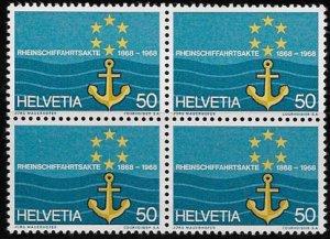 Switzerland, block of four SC 494, MH, OG