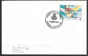 NEW ZEALAND 1990 cover HIGHLAND GAMES cancel...............................53184