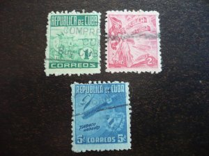 Stamps - Cuba - Scott# 420-422 - Used Set of 3 Stamps