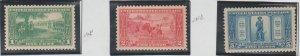 U.S. Scott #617-618-619 Lexington-Concord Stamps - Mint NH/H Set