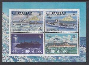 Gibraltar 684 Ships Souvenir Sheet MNH VF