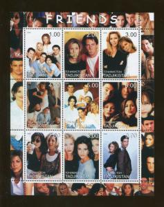 Tajikistan Commemorative Souvenir Stamp Sheet - TV Sitcom - Friends