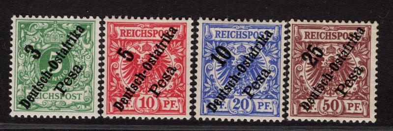 $German East Africa Sc#7-10 M/H-NH/F-VF, partial set, missing #6, Cv. $47