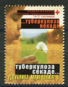 064 - MACEDONIA 2007 - Tuberculossis TBC - Red Cross - MNH Set