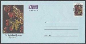 BARBADOS 2002 80c Christmas pictorial aerogramme - GPO cds..................K162