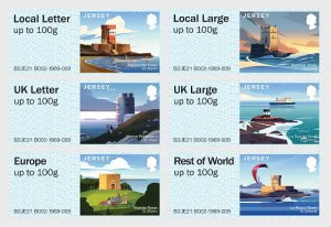 Jersey 2021 MNH Automat Stamps Coastal Towers Lighthouses