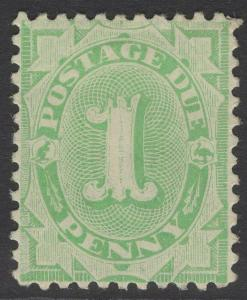 AUSTRALIA SGD35w 1902 1d EMERALD-GREEN POSTAGE DUE p11 WMK INVERTED MTD MINT