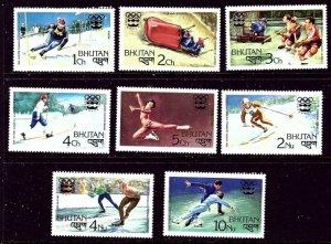 Bhutan 212-19 MNH 1976 Olympics    (ap3915)