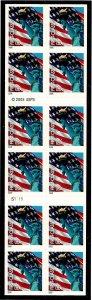 3966a Mint,OG,NH... Booklet Pane... SCV $22.00