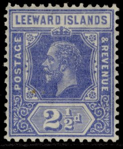 LEEWARD ISLANDS GV SG85, 2½d bright blue, LH MINT.