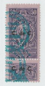 El Salvador fiscal revenue stamp 7-10-21 -- as seen-