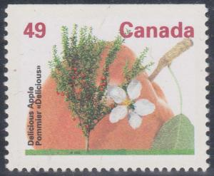 Canada USC #1364a Mint VF-NH Cat. $3.50 Ex Delicious Apple Booklet