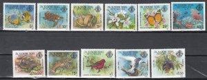 Seychelles, Sc 388-398, MNH, 1977, Wildlife (short set)
