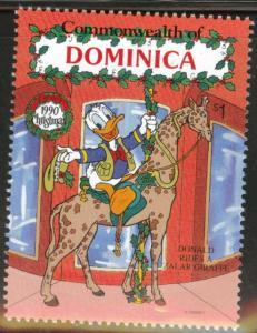 DOMINICA Scott 1275 MNH** 1990 Disney Donald Duck Christmas