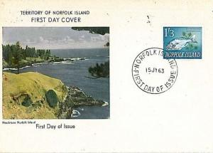 10820  FISHING FISH: POSTAL HISTORY:  NORFOLK - FDC - 1963
