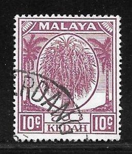 Malaya Kedah 69: 10c Rice Sheaf, used, F-VF